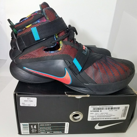 super popular d41be 79acc Nike LeBron James Soldier 9 lX NWT